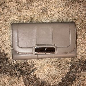 Gray trifold Coach Authentic wallet